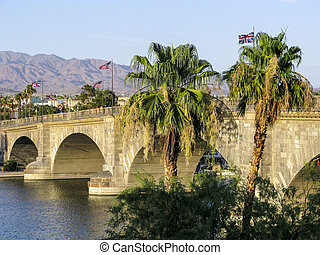 ponte londra, in, lago, havasu, vecchio, storico, ponte,...