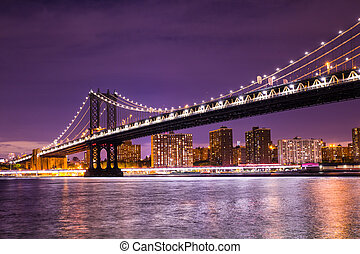 ponte manhattan, città new york