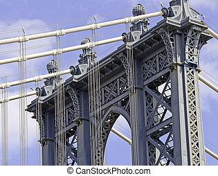 ponte manhattan, città new york