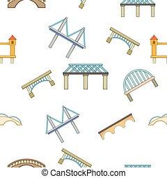 ponte, modello, cartone animato, stile