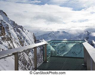ponte osservazione, di, alpi