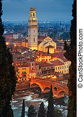 Ponte Pietra and Verona Cathedral - Ponte Pietra and Verona...