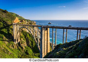 ponte riacho bixby, em, sur grande, california.