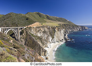 ponte riacho bixby, sur grande, califórnia, eua