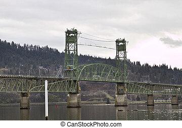 ponte, rio, capuz