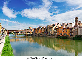Ponte Santa Trinita bridge over the Arno River, Florence