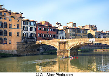 Ponte Santa Trinita over the Arno River in Florence,...