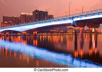 ponte, scena, notte