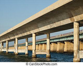 ponte, sete, milha