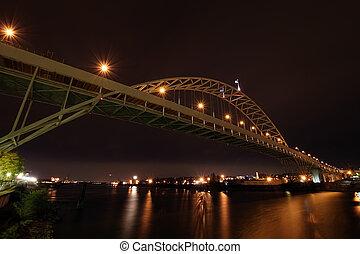 ponte, sopra, fiume, fremont, willamette