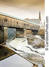 ponte, stati uniti, bagno, hampshire, nuovo, (1832)
