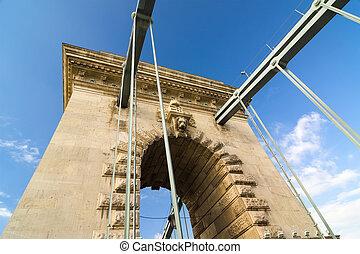 ponte, szechenyi, budapest, hungary., catena
