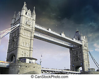 ponte torre, em, londres