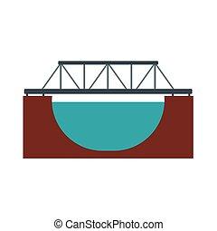 ponte, trilho, ícone