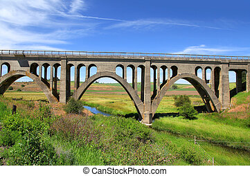 ponte, vecchio, abbandonato