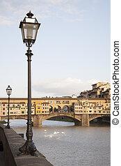 Ponte Vecchio Bridge and the River Arno, Florence