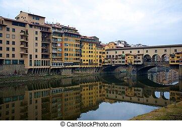 Ponte Vecchio bridge in Florence, Italy.
