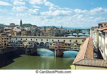 Ponte Vecchio bridge over the river Arno, Florence
