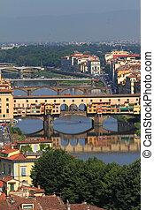 ponte vecchio, en, florencia, en, italia