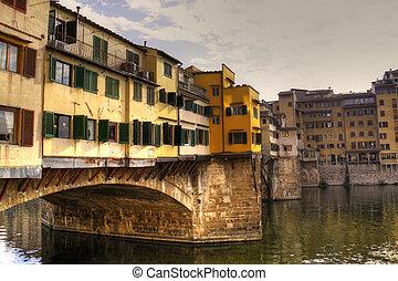 ponte vecchio, en, florencia