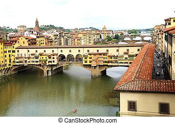 Ponte Vecchio Florence Italy - the Ponte Vecchio, Old Bridge...