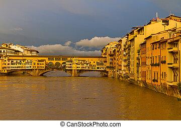 ponte vecchio, florencia, italia