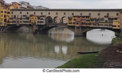 Ponte Vecchio in Florence in Winter