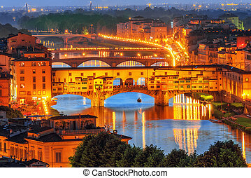 Ponte Vecchio is a bridge in Florence, located at the...