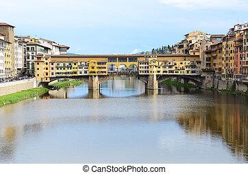 ponte vecchio, italia, florencia, puente
