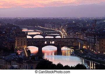 ponte vecchio, italia, florencia, toscana