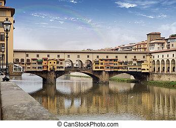 Ponte vecchio on teh Arno river