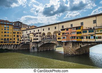Ponte Vecchio or Old Bridge in Florence, Italy