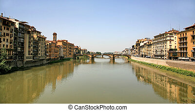 Ponte Vecchio over Arno River Florence Italy