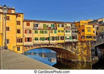 ponte vecchio, puente, en, florencia