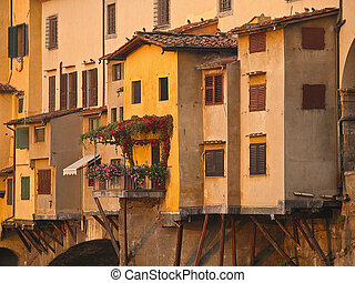 Ponte Vecchio in morning light, Florence, Italy.