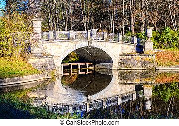 ponte, visconti, parque, pavlovsk
