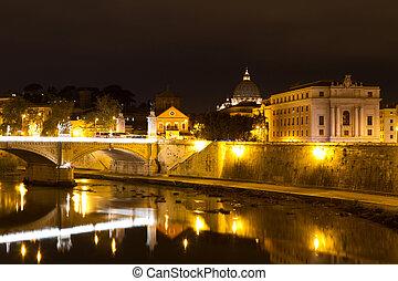 Ponte Vittorio Emanuele II, Rome, Italy
