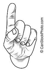 ponteiro, dedo