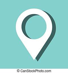 ponteiro, localização, alfinete, ícone