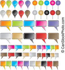 ponteiros, coloridos