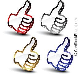 ponteiros, vetorial, escolha, melhor, mão