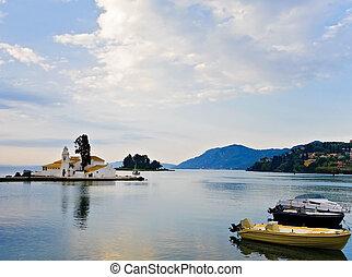 Pontikonisi area at Corfu island, Greece