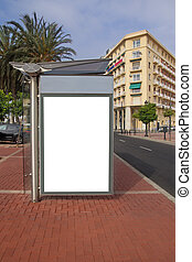ponto ônibus, anúncio