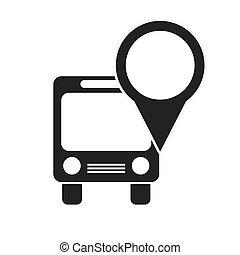 ponto ônibus, localização, alfinete