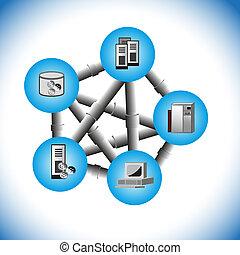 ponto, integração, topology