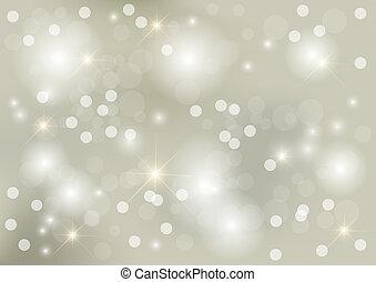 ponto, luminoso, prata, fundo