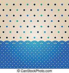 ponto polka, fundo, textured