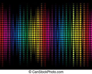 pontos, arco íris, coloridos, abstratos, brilho, fundo