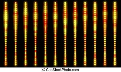 pontos, feito, linha, luz, cima, fundo