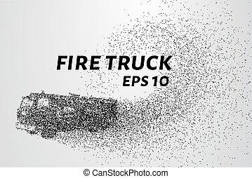 pontos, fogo, ilustração, particles., vetorial, caminhão, consiste, circles.